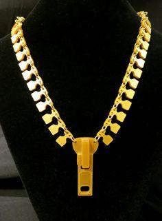 laser cut perspex zipper necklace by Tatty Devine