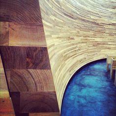 Kamppi Chapel of Silence by Helsinki photo by Johanna Nordin Helsinki, Worship, Hardwood Floors, Cathedral, Meditation, Space, Architecture, Wood Floor Tiles, Floor Space