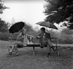Chess in the rain...