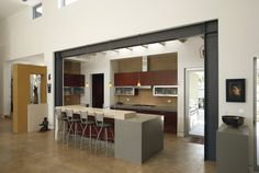 Steel Construction Design for Your House exposed beams Steel Columns, Steel Beams, Modern Kitchen Design, Modern Design, Kitchen Contemporary, Metal Beam, Construction Design, Exposed Beams, Küchen Design