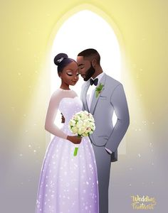 ey guys, the team is taking commissions for wedding illustrations Please send a DM or email via Black Couple Art, Black Girl Art, Black Couples, Black Women Art, Art Girl, Black Love Artwork, Black Art Pictures, Beautiful Artwork, Wedding Illustration