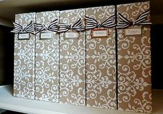 "magazine holders - 4"" wide cardboards from Ikea."