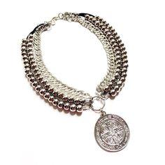 Collar Medallon San Benito. Ultima Moda!! - $ 160,00 en MercadoLibre