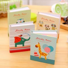 Hot selling Sweet Little Animal series Fashion Hard Cover Memo Notepad.Sticky note.Writing scratch pad.office school supplies.re