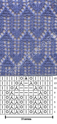 """Lace knitting pattern Nr 86 by E. Avercheva. I have seen this called """"Cathedral Windows"""" somewhere. Although you can tell, it looks almost the same no matter if it is worked top-down or bottom up."""