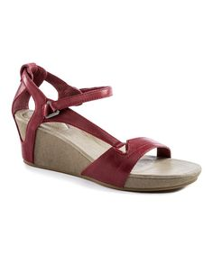 Look at this Teva Rhubarb Capri Leather Wedge Sandal - Women on #zulily today!