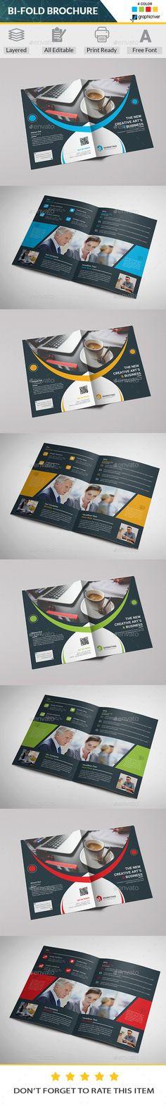 Bi-Fold #Brochure - #Corporate Brochures Download here:  https://graphicriver.net/item/bifold-brochure/20035694?ref=alena994