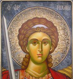 Archangel Michael Religious Icons, Religious Art, Religious Paintings, Byzantine Icons, Archangel Michael, Art Icon, Color Pencil Art, Catholic Saints, Orthodox Icons