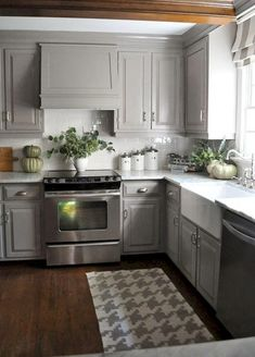 Beautiful Gray Kitchen Cabinet Ideas