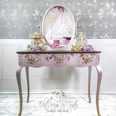 "Re•design with Prima®️ on Instagram: """"I created this for my neighbor who is in a wheelchair and it's a special so she can get dressed while sitting in her wheelchair more…"" Diy Furniture Renovation, Furniture Decor, Modern Masters, Jewelry Armoire, Metallic Paint, Get Dressed, Creative Design, Floral Design, Vanity"