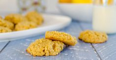 Low sugar snack for kids, an easy recipe, for a soft chewy style cookie, wheat free,  and dairy free options