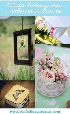 5 Fab Vintage Wedding Décor Style Tips | Confetti Daydreams - VINTAGE WEDDING DÉCOR IDEAS that will work for your Big Day! ♥ #Vintage #Wedding #Décor ♥  ♥  ♥ LIKE US ON FB: www.facebook.com/confettidaydreams  ♥  ♥  ♥