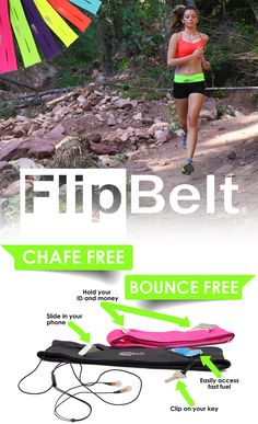 Buy FlipBelt today with free shipping! Go hands free for any activity! Fits Credit Card, Keys, Gels, Medical, Mace, Lip Balm, Powerbar, iPod, Phones, etc... Fits all phones including the iPhone 6 Plus! No Bounce! Machine wash! Move your phone to any location on your waist for different activities and exercises. Use 10% off code: PIN10 until 3/31/2015. Click the image to shop now.