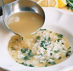 Chicken Soup with Rice, Lemon & Mint - just made this soup roughly following the recipe and it was still yummy. Can't wait to try the real recipe :]