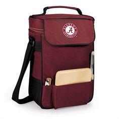 University of Alabama Leatherette Luggage Tag-Burgundy