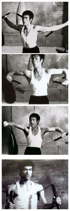 .Nunchucks and Bruce Lee are like peanut butter and chocolate ... they just go together.
