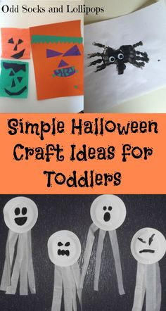 Super Simple Halloween Craft Ideas for Toddlers - a few really easy Halloween themed crafts ideas for toddlers