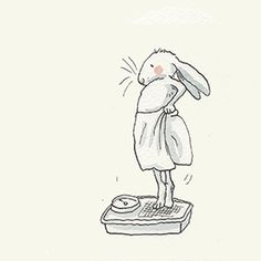 Anita Jeram Gifts and Cards Animal Drawings, Cute Drawings, Drawing Animals, Anita Jeram, Rabbit Art, Bunny Art, Children's Book Illustration, Cute Art, Poster