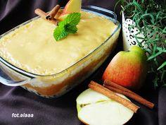 Ala piecze i gotuje: Ryż z jabłkami i polewą ze śmietany Camembert Cheese, Risotto, Brunch, Cooking Recipes, Pudding, Sweets, Dinner, Food, Poland