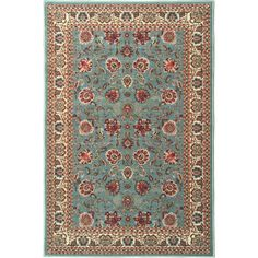 Ottomanson Ottohome Collection Persian Style Rug Oriental Rugs Sage Green/ Aqua Blue Runner Rug (3'3 x 5') | Overstock.com Shopping - The Best Deals on 3x5 - 4x6 Rugs