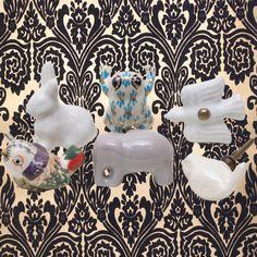 Draw Knobs, Ceramic Knobs, Wildlife Nature, Knobs And Pulls, Vintage Ceramic, Our Love, Doors, Ceramics, Nice