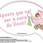 Plaquinhas Divertidas Chá de Bebê Menina 5