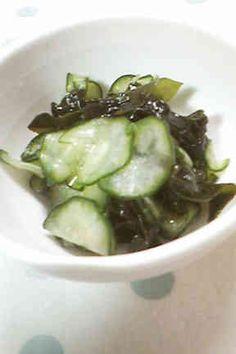 Cucumber and Wakame Sunomono きゅうりとワカメの酢の物