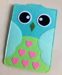 Cute Cute Light Green Owl Mini Ipad Case/Mini iPad by SheetaDesign