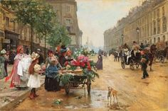 It's About Time: Flower Sellers - Louis Marie de Schryver 1862-1942