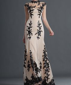 Stunning black and ivory lace gown by PrincessHeels on Etsy, £850.00