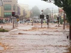 The disastrous 'inland tsunami' caused by torrential rain in Toowoomba  Queensland - Jan 2011