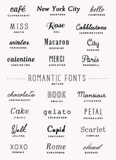 FONTS This is just a page filled with all different kinds of fonts to help me with which font i should use.