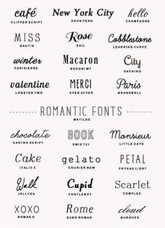Pick 4 Fonts: 1. Title/Logo Font (go all out), 2. Content/Paragraph Font (simple, readable), 3. Bold Font (emphasis, readable, subtitle font), 4. Script Font (fancy or handwritten, subtitle font, shows personality)