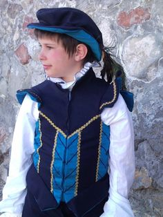 Renaissance Boys Doublet and Slops Set  MADE TO ORDER. $400.00, via Etsy.