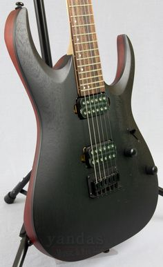 Ibanez RGA32 Weathered Black New 2016 RGA Guitar From Ibanez The RGA32 is a double cutaway with the added depth of a sculpted archtop. Built for brutality, the RGA can handle the most extreme and dema