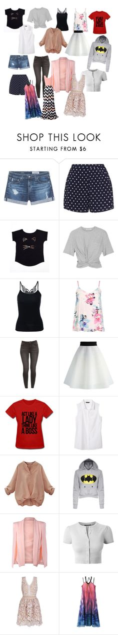 """""""ss16"""" by lakenmodell ❤ liked on Polyvore featuring AG Adriano Goldschmied, Zizzi, T By Alexander Wang, Dorothy Perkins, Chicwish, Banana Republic, LE3NO, WithChic and Chicnova Fashion"""