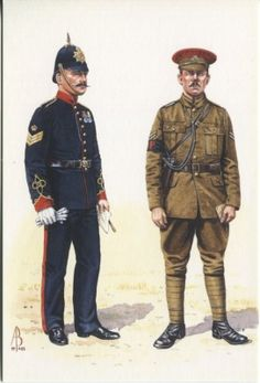 Alix Baker Postcard - AB.S/8 Staff Sergeant c1904 and Corporal c1914 Military Foot Police