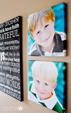 DIY: Tutorial on How to Make your Family Photos into Canvas Wraps - Great idea for Father's Day