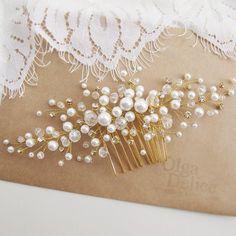 Очень рада, что невесты стали чаще заказывать украшения под золото))) #olgadelice