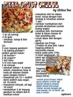 Pizza crust cheese Burger Bread, Pizza Sandwich, Appetizer Recipes, Bread Recipes, Baking Recipes, Bolu Cake, Western Food, Tasty, Yummy Food