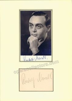 Moralt, Rudolf - Signature and Photo