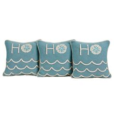 Sand and Shore Trio of Ho Ho Pillows