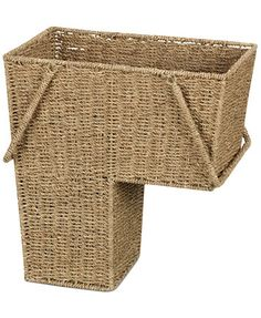 Household Essentials Seagrass Stair Basket with Handles   macys.com