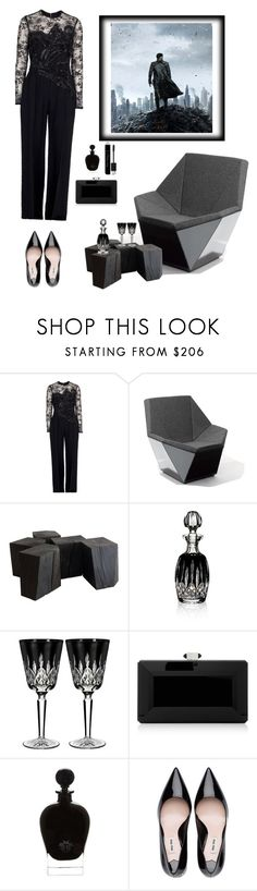 """""""Into darkness"""" by kategr ❤ liked on Polyvore featuring Elie Saab, Knoll, Waterford, Judith Leiber, EB Florals, Christian Dior and allblackoutfit"""
