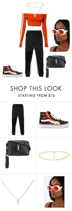 """Untitled #340"" by jesysminn on Polyvore featuring adidas Originals, Puma, Vans and Yves Saint Laurent"