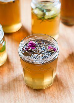 DIY flavored syrups! Lavender Rose