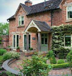 Do you prefer the traditional look or the modern look? and garden uk magazine country living Brick Cottage, Cottage Porch, Cottage Homes, Cottage Style, Garden Cottage, Beautiful Houses Interior, Beautiful Homes, House Beautiful, English House