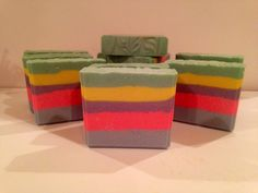 Over the Rainbow Shea Butter Soap Made of all natural ingredients. Available at nanniesnaturals@gmail.com