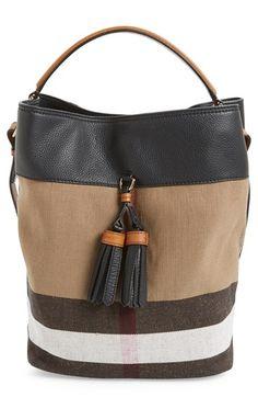 Burberry  Medium Susanna  Check Bucket Bag available at  Nordstrom Burberry  Purse 721389dd25930