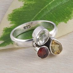 925 SOLID STERLING SILVER EXCLUSIVE MULTI CUT RING JEWELLERY 4.89g DJR2365 S-8 #Handmade #Ring
